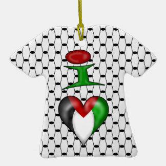 I love Palestine I Heart Palestine Christmas Tree Ornament