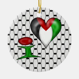 I love Palestine I Heart Palestine Christmas Ornaments