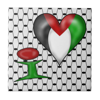 I love Palestine I Heart Palestine Tile
