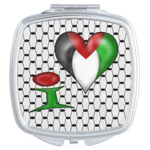 I love Palestine I Heart Palestine Vanity Mirror