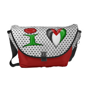 I love Palestine kufiya scarf background Courier Bag