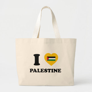 I Love Palestine Large Tote Bag