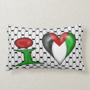 I love Palestine Lumbar Pillow