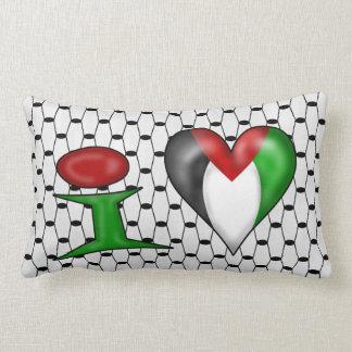 I love Palestine Lumbar Pillow