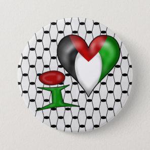 I love Palestine Pinback Button