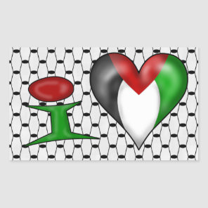 I love Palestine Rectangular Sticker