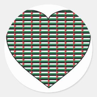 I Love Palestine Round Stickers