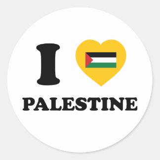 I Love Palestine Round Sticker