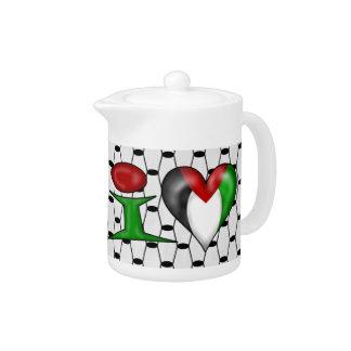 I love Palestine Teapot
