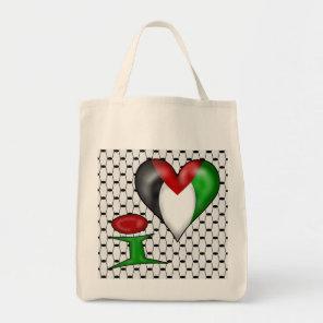I love Palestine Tote Bag
