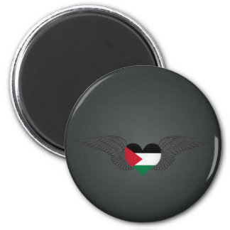 I Love Palestine -wings 2 Inch Round Magnet