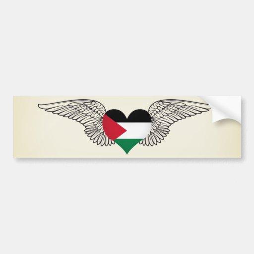 I Love Palestine -wings Bumper Stickers
