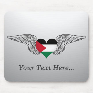 I Love Palestine -wings Mouse Pad