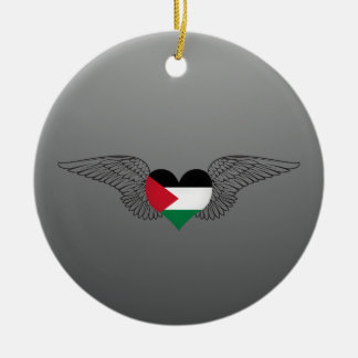 I Love Palestine -wings Christmas Tree Ornament