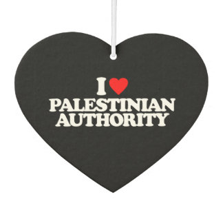 I LOVE PALESTINIAN AUTHORITY AIR FRESHENER