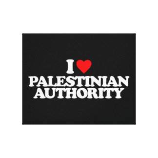 I LOVE PALESTINIAN AUTHORITY STRETCHED CANVAS PRINT