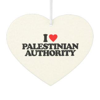 I LOVE PALESTINIAN AUTHORITY CAR AIR FRESHENER