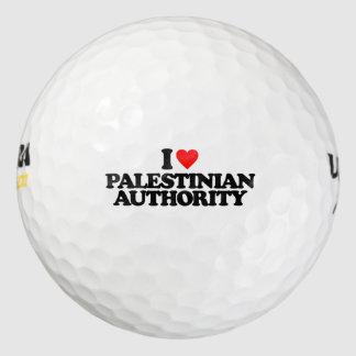 I LOVE PALESTINIAN AUTHORITY GOLF BALLS