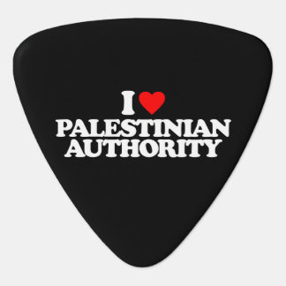 I LOVE PALESTINIAN AUTHORITY GUITAR PICK