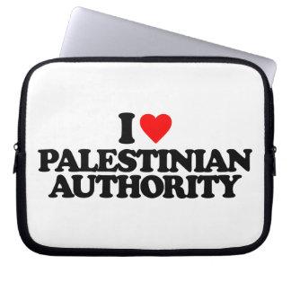 I LOVE PALESTINIAN AUTHORITY LAPTOP SLEEVES