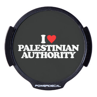 I LOVE PALESTINIAN AUTHORITY LED WINDOW DECAL