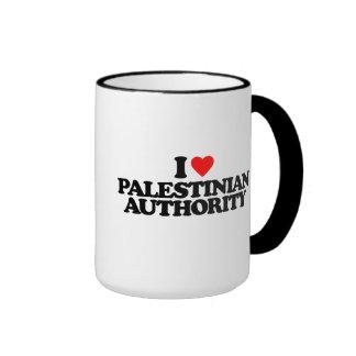 I LOVE PALESTINIAN AUTHORITY RINGER COFFEE MUG