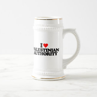 I LOVE PALESTINIAN AUTHORITY 18 OZ BEER STEIN