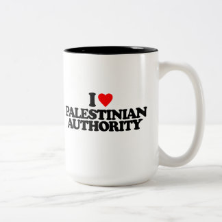 I LOVE PALESTINIAN AUTHORITY Two-Tone COFFEE MUG