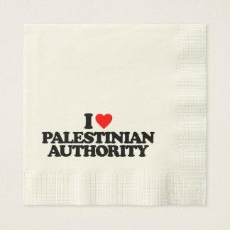 I LOVE PALESTINIAN AUTHORITY NAPKIN