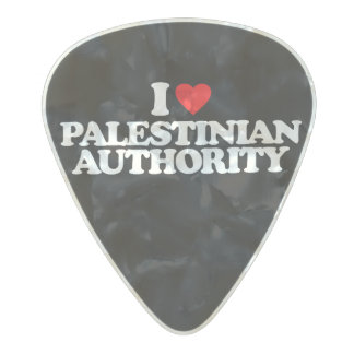 I LOVE PALESTINIAN AUTHORITY PEARL CELLULOID GUITAR PICK