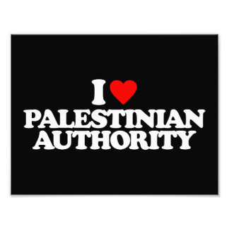 I LOVE PALESTINIAN AUTHORITY PHOTO PRINT