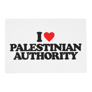 I LOVE PALESTINIAN AUTHORITY PLACEMAT