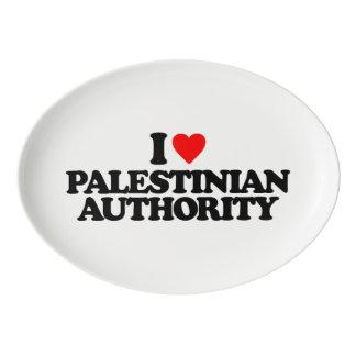 I LOVE PALESTINIAN AUTHORITY PORCELAIN SERVING PLATTER