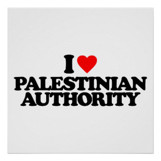 I LOVE PALESTINIAN AUTHORITY POSTERS