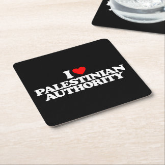 I LOVE PALESTINIAN AUTHORITY SQUARE PAPER COASTER