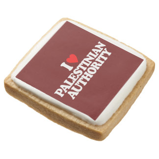 I LOVE PALESTINIAN AUTHORITY SQUARE SHORTBREAD COOKIE