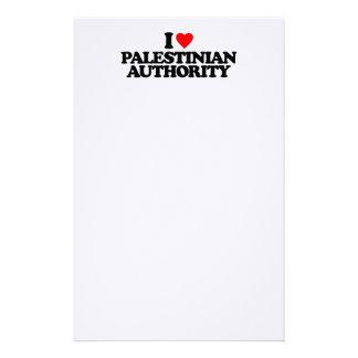 I LOVE PALESTINIAN AUTHORITY STATIONERY