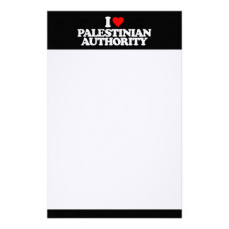 I LOVE PALESTINIAN AUTHORITY STATIONERY PAPER