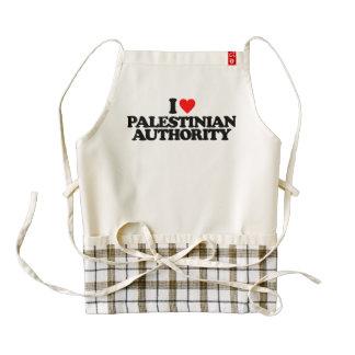 I LOVE PALESTINIAN AUTHORITY ZAZZLE HEART APRON