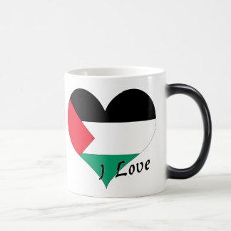 I Love Palestinian territories Magic Mug
