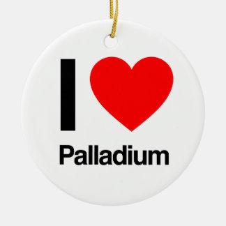 i love palladium ceramic ornament
