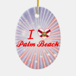I Love Palm Beach, Florida Christmas Ornament