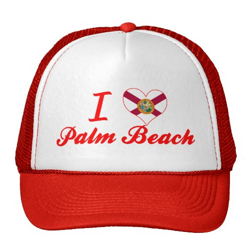 I Love Palm Beach, Florida Hat