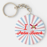 I Love Palm Beach, Florida Keychains