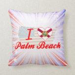 I Love Palm Beach, Florida Pillows
