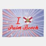 I Love Palm Beach, Florida Towels