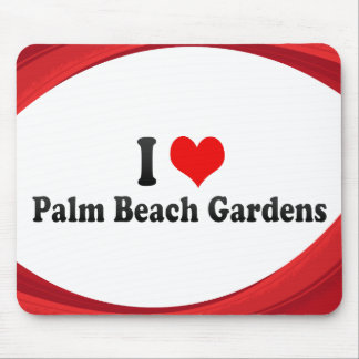I Love Palm Beach Gardens, United States Mouse Pad