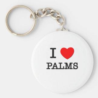 I Love Palms Basic Round Button Keychain