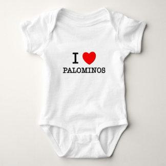 I Love Palominos (Horses) Baby Bodysuit