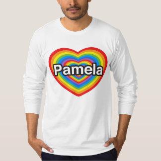 I love Pamela. I love you Pamela. Heart Tee Shirt